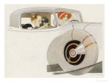 Mama Takes the Wheel Giclee Print by René Vincent