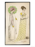 Yellow Printed Muslin Gown or Possibly White Muslin Worn Over a Yellow Slip. Accessories Giclee Print