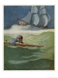 David after the Wreck of the Covenant Giclee Print by Newell Convers Wyeth