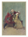 The Merry Wives of Windsor, Act III Scene III: Falstaff with Mrs. Ford Giclee Print by Hugh Thomson