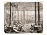Interior of a French Rubber Factory Giclee Print