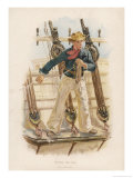 Sailor of the British Navy Heaves the Lead to Measure the Depth of Water Giclee Print by W.c. Symons