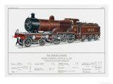 Midland Railway Express Loco No 1025 Giclee Print by W.j. Stokoe