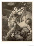 To Punish Loki the Aesir Giclee Print by M.e. Winge