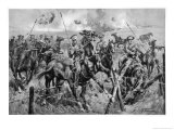 British Cavalry in Action Giclee Print by Dudley Tennant