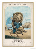 British Lion Seated Giclee Print by Henry Walker