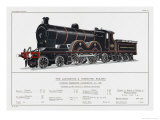 Lancashire and Yorkshire Railway Express Loco No 1406 Giclee Print by W.j. Stokoe