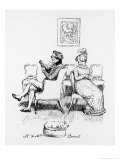 Mrs Bennet Turns to Speak to Her Husband Who is Reading a Book Giclee Print by Hugh Thomson