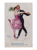Girl Kicks up Her Heel as She Dances Cheek-To-Cheek Giclee Print by Frederick Spurgeon