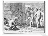 La Fossette aux Noyaux: a Game Giclee Print by Jacques Stella