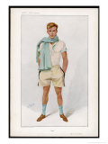 Douglas Stuart Dressed for Sport in Short Sleeved Vest with Pale Blue Trim and Flannel Shorts Premium Giclee Print by  Spy (Leslie M. Ward)