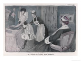 Ladies' Maid Tightens Her Mistress's Corset Giclee Print by Jacques Wely