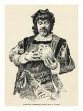The French Actor Mounet- Sully in the Role of Hamlet Apostrophizing Yorick's Skull Giclee Print