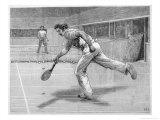 Lyttleton and C Saunders Play Real Tennis at New Prince's Club in Knightsbridge Lond Premium Giclee Print by C.j. Staniland