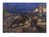 Lions and Lines Giclee Print by W.r. Stott