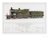London and South Western Railway Express Loco No 415 Giclee Print by W.j. Stokoe