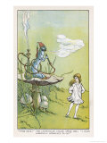 Alice Walks Away from the Caterpillar Giclee Print by W.h. Walker