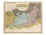 Map of the Russian Empire Giclee Print by J. Wallis