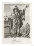 An Augur of Ancient Rome Utters Prophecies Based on the Corn Eaten by His Hens Giclee Print