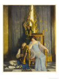 Tristram is Killed by His Uncle King Mark Giclee Print by Newell Convers Wyeth