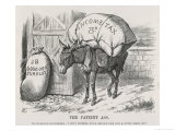 The British Taxpayer, The Patient Donkey, Groans Beneath the Weight of Income Tax Premium Giclee Print by John Tenniel
