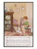 Little Jack Horner Sits in a Corner Eating His Way Through a Very Large Christmas Pie Giclee Print by Dorothy Wheeler