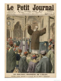 Abdul Baha Head of the Bahaist Movement Preaches Peace and Brotherhood in a Mosque in Istanbul Giclee Print