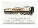 London Brighton and South Coast Railway Pullman Car Giclee Print by W.j. Stokoe