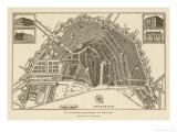 Mapa de Amsterdam Lámina giclée por  Van Brouwer