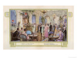 Dancing in the Palm Court of the Hotel Cecil One of London's Most Fashionable Hotels Giclee Print by C.e. Turner
