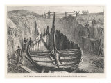 Norwegian Viking Ship Excavated at Gokstad Giclee Print by A. Tissandier