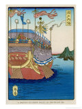 The Pleasure-Barge of a Daimyo of the Togugawa Era on the Inland Sea Giclee Print by Tsukioka Kinzaburo Yoshitoshi