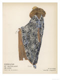 Quilted Silk Coat 1922 Giclee Print