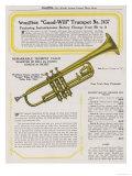 "Wurlitzer ""Good Will"" Trumpet Giclee Print"