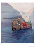 Hawkeye and Companions Giclee Print by Newell Convers Wyeth