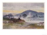 Hot Pools Near Ngongotaha Mountain Giclee Print by F. Wright