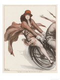 Flapper on the Pillion Giclee Print by Armand Vallee
