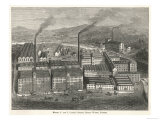Bird&#39;s-Eye View of Messrs J and J Clark&#39;s Anchor Thread Works Giclee Print