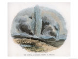 Geyser Erupting in Iceland Giclee Print by J.w. Whimper