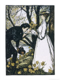 He Kisses Her Hand Giclee Print by Edmund J. Sullivan