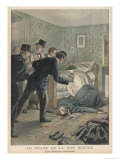 Mme Bertrand a Hotel Keeper is Found Strangled in the Rue de Berthe Paris by Detectives Giclee Print by Tofani