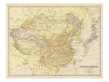 Map of the Chinese Empire and Japan Premium Giclee Print