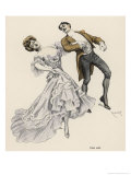 An Elegant German Couple Lean Over Backwards to Perform the Dance in True Plantation Style Giclée-Druck von Ferdinand Von Reznicek