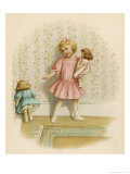 Small Girl Makes One of Her Dolls Stand in the Corner as a Punishment for Misbehaving Giclee Print by Ida Waugh