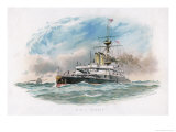 "British Battleship of the ""Rodney"" Class Giclee Print by W.s. Tomkin"