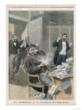 Letter Bomb Wounds M. Jodkowitz Secretary of Banker Alphonse de Rothschild at Paris Giclee Print