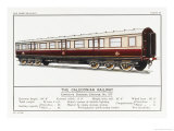 Caledonian Railway Corridor Carriage Giclee Print by W.j. Stokoe