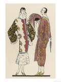 Coats in Fabrics with an Oriental Feel by Coudurier Giclee Print