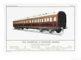 Lancashire and Yorkshire Railway Third Class Saloon Carriage Giclee Print by W.j. Stokoe