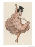 A High Kicking Dancer Giclee Print by Ferdinand Von Reznicek